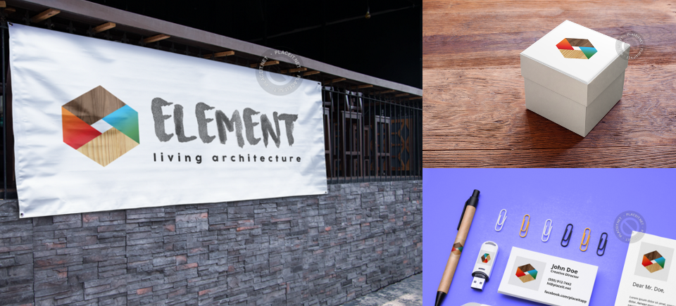 Branding / Logo: Element Living Architecture