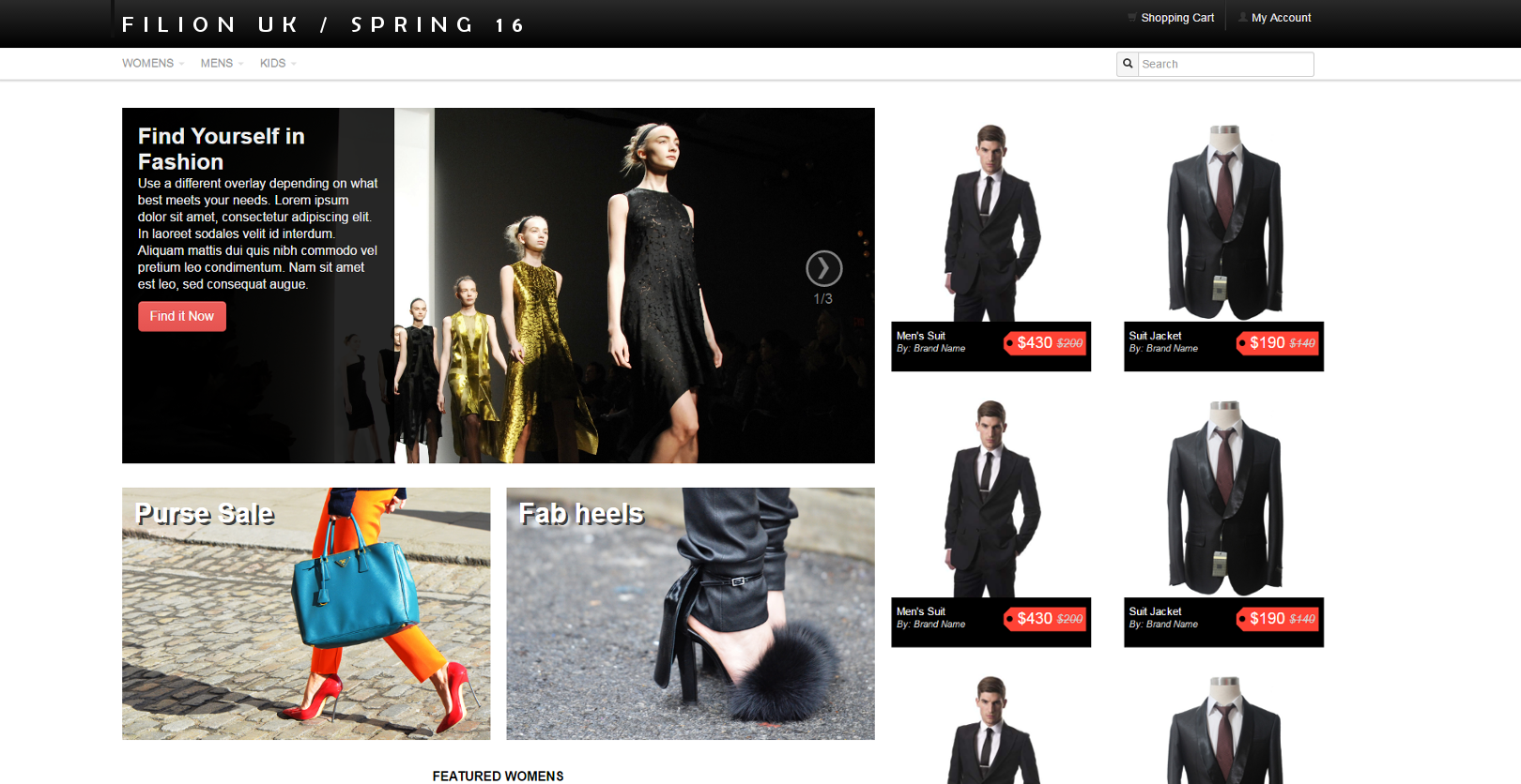 Fashion & Retail: Online Store